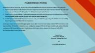 PEMBERITAHUAN PENTING | Dinas PM & PTSP